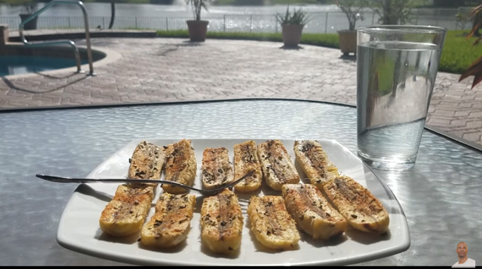 Baked Burro Banana Slices - Dr. Sebi Electric Alkaline Foods