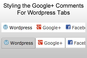 Styling The Google+ Comments For WordPress Tabs