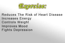 Exercise promotes healthy living