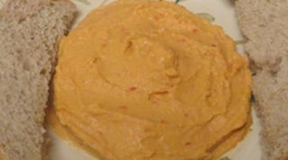 Roasted Red Pepper Hummus - Vegan Recipe