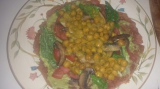Spelt And Amaranth Flatbread With Avocado Spread And Stewed Chickpeas Recipe