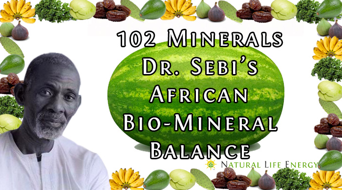 102 Minerals In Dr. Sebi's African Bio Mineral Balance