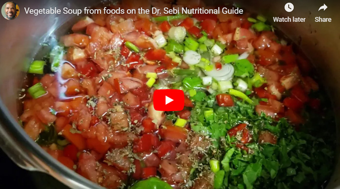 Vegetable Soup Made From Foods on The Dr  Sebi Nutritional